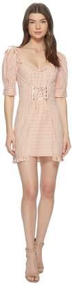 For Love & Lemons Selma Lace-Up Mini Dress Women's Dress
