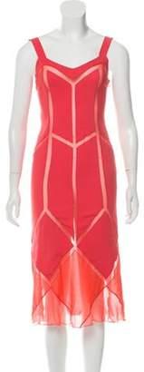 Alberta Ferretti Sleeveless Midi Dress Pink Sleeveless Midi Dress