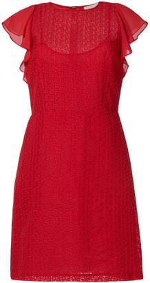 MICHAEL Michael Kors flutter-sleeve geometric lace dress