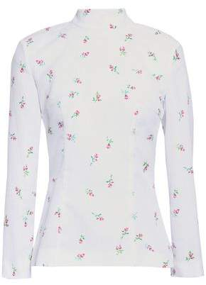 Emilia Wickstead Rita Cutout Floral-print Cloque Top
