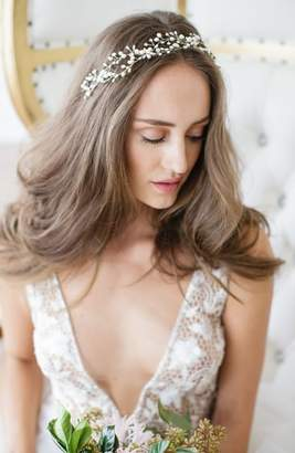 Arabella Brides & Hairpins 'Arabella' Jeweled Halo & Sash