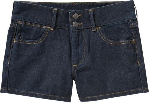 Women's High-Waist Denim Shorts (2 1/2