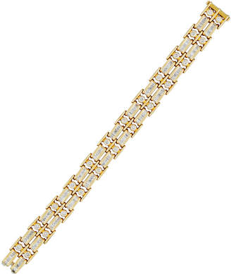 Diana M. Jewels 18k Double-Row Channel-Set Diamond Tennis Bracelet, 7.5tcw