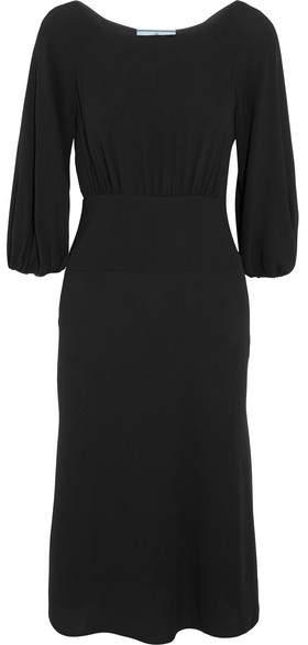 Prada - Crepe Midi Dress - Black