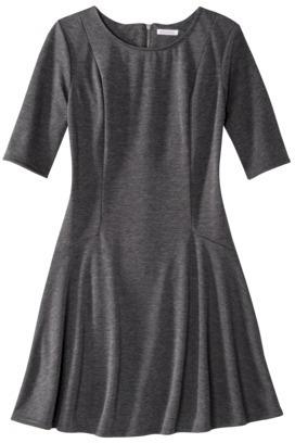 Xhilaration Juniors Ponte Fit & Flare Dress - Assorted Colors