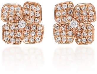 Anita Ko Floral 18K Gold And Diamond Stud Earrings