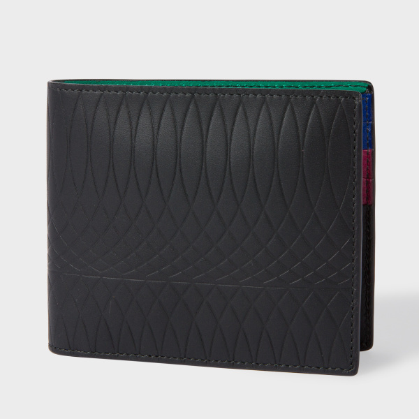 Paul SmithPaul Smith No.9 - Black Leather Billfold Wallet With Multi-Coloured Interior