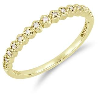 Bony Levy 18K Yellow Gold Prong Set Diamond Accent Ring - 0.08 ctw
