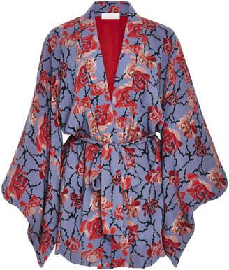 Fleur Du Mal Haori Floral Silk Kimono
