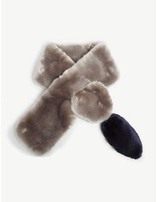 FUZZ NOT FUR Faux-fur wrap scarf