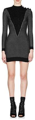 Balmain Women's Metallic Mock-Turtleneck Dress