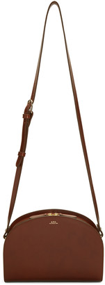 A.P.C. Brown Half-Moon Bag $450 thestylecure.com