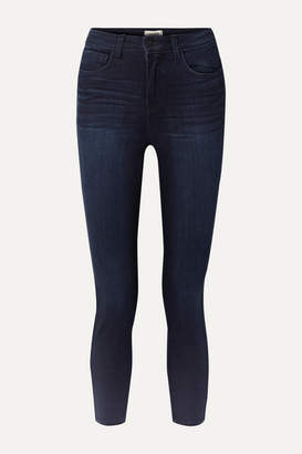L'Agence Margot Cropped High-rise Skinny Jeans - Dark denim