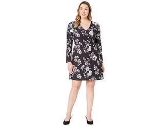 Adrianna Papell Etch Flora A-Line Dress