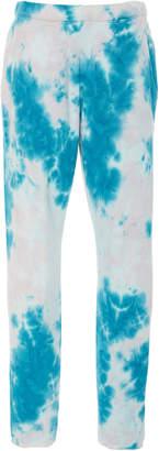 The Elder Statesman Marble Dyed Cotton Fleece Track Pants