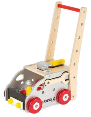 Janod 'Bricolo Redmaster Workbench and Trolley' Toy Set