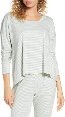 Eberjey Stripes High/Low Pajama Top
