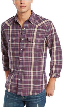 Lucky Brand Men Saturday Stretch Santa Fe Regular-Fit Plaid Western Shirt