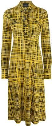 Cavallini Erika grid pattern shirt dress