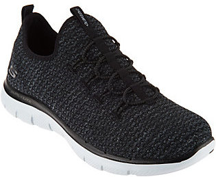 Skechers Multi Knit Slip-On Bungee Sneakers - $49.98 thestylecure.com