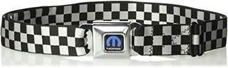 Buckle-Down Men's Seatbelt Belt Checkered XL