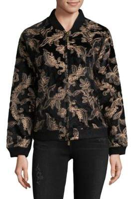 Goldie Embroidered Bomber Jacket