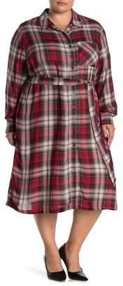 Seven7 Plaid Shirt Dress (Plus Size)