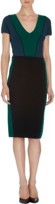 Narciso Rodriguez Colorblock Short Sleeve Dress