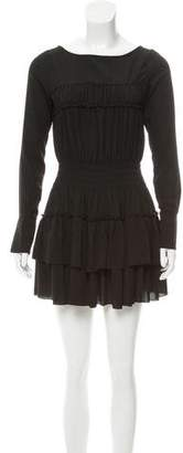Marchesa Voyage Long Sleeve Mini Dress