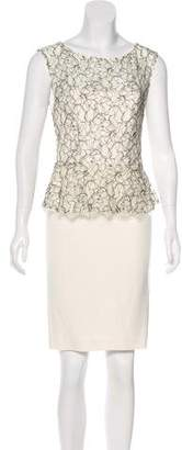 Alice + Olivia Lace Peplum Dress