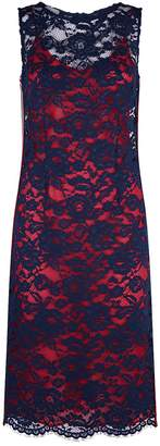 Pinko Guipure Lace Overlay Pencil Dress