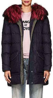 Mr & Mrs Italy Women's Fur-Trimmed Down-Quilted Cotton-Blend Parka