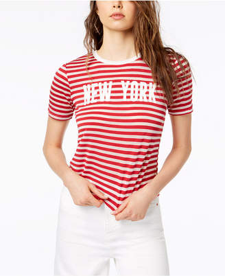 Project 28 Nyc New York Striped T-Shirt