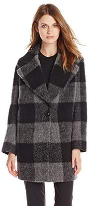 Kensie Women's Plaid Cocoon Wool Coat $128.57 thestylecure.com