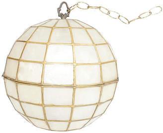 One Kings Lane Vintage 1950s Capiz Shell Pendant Light - G3Q Designs