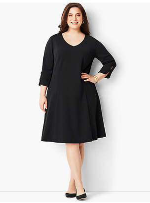 Talbots Plus Size Matte Jersey Fit-and-Flare Dress