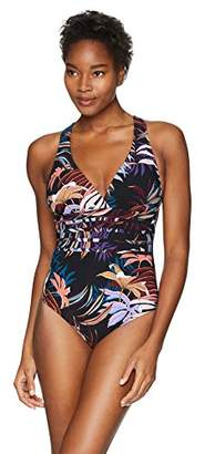 LaBlanca La Blanca Women's Multi Strap Cross Back One Piece Swimsuit
