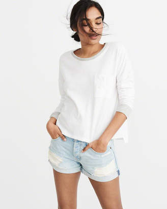 Abercrombie & Fitch Long-Sleeve Contrasting Tee