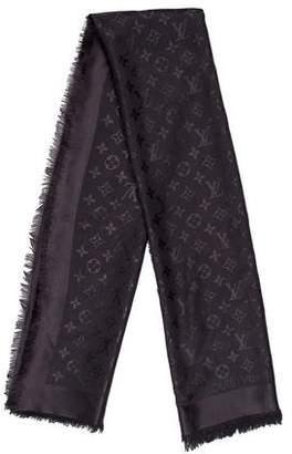Louis Vuitton Monogram Silk & Wool Shawl