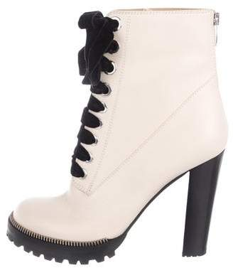 Sergio Rossi Platform Lace-Up Boots