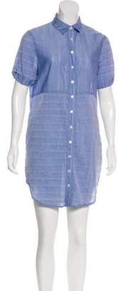 Frame Striped Mini Shirtdress