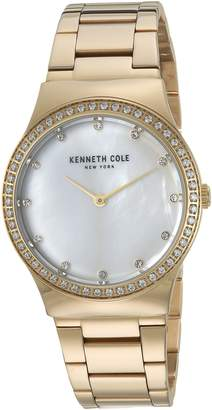 Kenneth Cole New York Women's Quartz Stainless Steel Casual Watch, Color:Gold-Toned (Model: KC50061001)