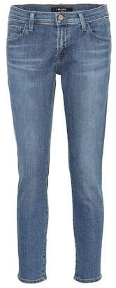 J Brand Sadey mid-rise cropped jeans
