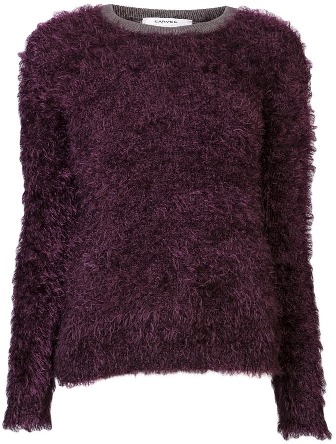 Carven Fur knit pullover