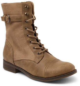 XOXO Carissa Lace Up Combat Booties Women's Shoes