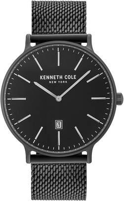 Kenneth Cole New York Kenneth Cole Men's Black Stainless Steel Mesh Bracelet Watch 42mm KC15057012