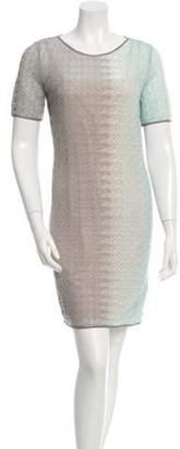 Missoni Knit Mini Dress Grey Knit Mini Dress