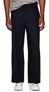 Barena Venezia Men's Wool Flannel Wide-Leg Trousers - Navy