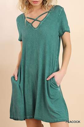 Umgee USA V Neck Swing Dress