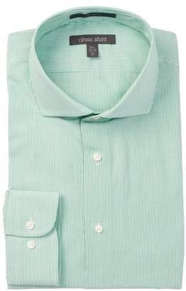 Nordstrom Rack Pinstripe Trim Fit Dress Shirt